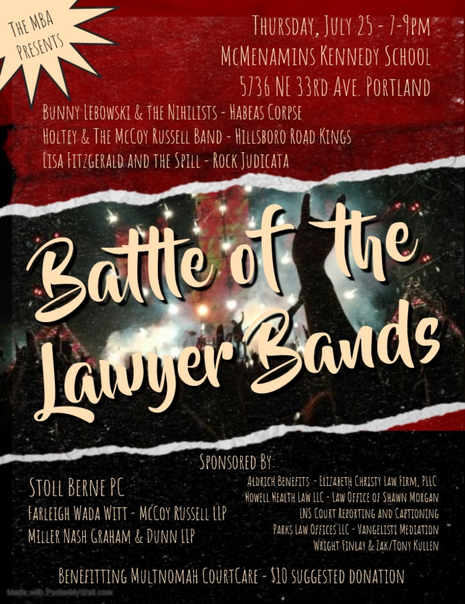 Multnomah Bar Association Battle of the Lawyer Bands